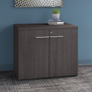 "Bush Business Furniture Office 500 36"" Storage Cabinet Storm Gray - OFS136SGSU"