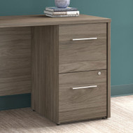 "Bush Office 500 16""W 2-Drawer Lateral File Cabinet Modern Hickory - OFF216MHSU"