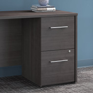 "Bush Office 500 16""W 2-Drawer Lateral File Cabinet Storm Gray - OFF216SGSU"