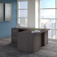 Bush Business Furniture Office 500 72W L Shaped Executive Desk with Drawers in Storm Gray - OF5004SGSU