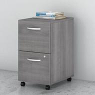 Bush Business Furniture Studio C Mobile File Pedestal 2-Drawer Assembled Platiunum Gray - SCF116PGSU