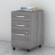 Bush Business Furniture Studio C Mobile File Pedestal 3-Drawer Assembled Platinum Gray - SCF216PGSU