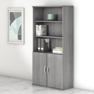 "Bush Business Furniture Studio C Bookcase 5-Shelf with Doors 36"" Platinum Gray - STC015PG"