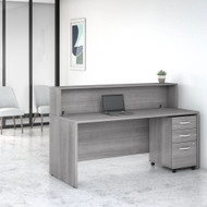 Bush Business Furniture Studio C Reception Desk Platinum Gray - STC041PGSU