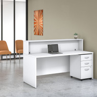 Bush Business Furniture Studio C Reception Desk White - STC041WHSU