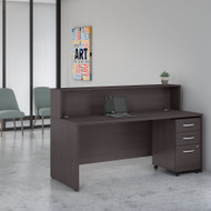 Bush Business Furniture Studio C Reception Desk Storm Gray - STC041SGSU