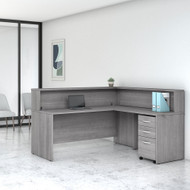 Bush Business Furniture Studio C L-Shaped Reception Desk Platinum Gray - STC040PGSU