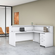 Bush Business Furniture Studio C L-Shaped Reception Desk White - STC040WHSU