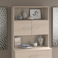 Bush Business Furniture Office 500 36W Bookcase Hutch in Sand Oak - OFH136SO