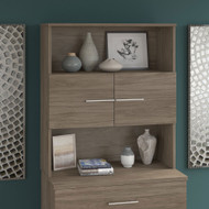 Bush Business Furniture Office 500 36W Bookcase Hutch Modern Hickory - OFH136MH