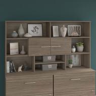 Bush Business Furniture Office 500 72W Desk Hutch Modern Hickory - OFH172MHK