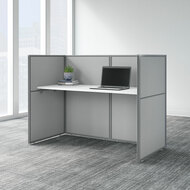 "Bush Business Furniture Easy Office 60""W Cubicle Desk Workstation with 45""H Closed Panels - EOD260WH-03K"