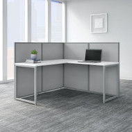 "Bush Business Furniture Easy Office 60""W L-Shaped Desk Workstation w 45""H Panels - EOD360WH-03K"