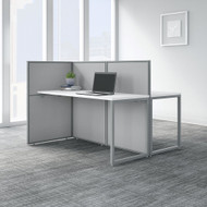 "Bush Business Furniture Easy Office 60""W 2 Person Desk Workstation w 45""H Panels - EOD460WH-03K"