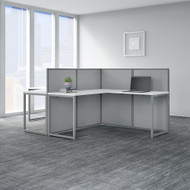 "Bush Business Furniture Easy Office 60""W 2 Person L-Shaped Desk Workstation w 45""H Panels - EOD560WH-03K"