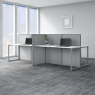 "Bush Business Furniture Easy Office 60""W 4 Person Desk Workstation w 45""H Panels - EOD660WH-03K"