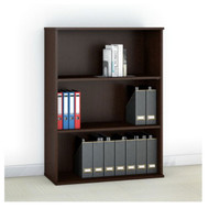 "Bush Business Furniture Easy Office 48""H 3-Shelf Bookcase - EO104MR"