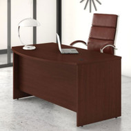 "Bush Business Furniture Studio C Bow Front Desk 60"" Harvest Cherry - SCD160CS"