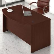 "Bush Business Furniture Studio C Bow Front Desk 72"" Harvest Cherry - SCD172CS"