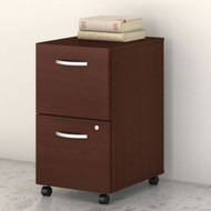 Bush Business Furniture Studio C Mobile File Pedestal 2-Drawer Assembled Harvest Cherry - SCF116CSSU