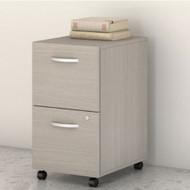 Bush Business Furniture Studio C Mobile File Pedestal 2-Drawer Assembled Sand Oak - SCF116SOSU