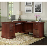 Kathy Ireland by Bush Furniture Bennington Collection Executive L-Shaped Desk - WC65570-03K