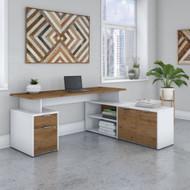 "Bush Business Furniture Jamestown 72""W L-Shaped Desk - JTN009FWWHSU"