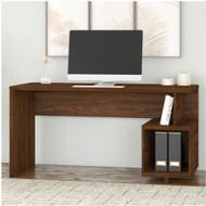 """Kathy Ireland by Bush Industries Madison Avenue 60""""W Writing Desk Modern Walnut - MDD160MW-03"""