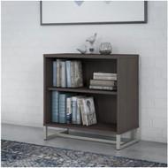 "Kathy IrelandBush Method Collection 2-Shelf Bookcase 30""H Storm Gray - KI70405"