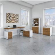 "Bush Business Furniture Jamestown 72""W L-Shaped Desk Package - JTN011FWWHSU"