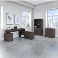 "Bush Business Furniture Jamestown 72""W L-Shaped Desk Package - JTN011SGSU"