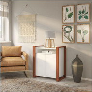 Kathy Ireland by Bush Industries Voss Storage Cabinet - OSS129WC2-03