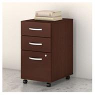 Bush Business Furniture Studio C Mobile File Pedestal 3-Drawer Assembled Harvest Cherry - SCF216CSSU
