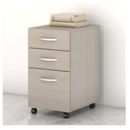 Bush Business Furniture Studio C Mobile File Pedestal 3-Drawer Assembled Sand Oak - SCF216SOSU