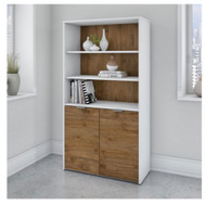 Bush Business Furniture Jamestown 5-Shelf Bookcase - JTB136FWWH