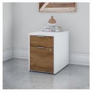 Bush Business Furniture Jamestown 2 Drawer Pedestal-Assembled- JTF116FWWHSU
