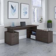 "Bush Business Furniture Jamestown 60"" L-Shaped Desk Package - JTN021SGSU"
