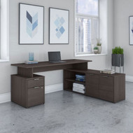 "Bush Business Furniture Jamestown 60"" L-Shaped Desk Package - JTN021SGSU"