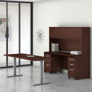 "Bush Business Furniture Studio C Desk and Height Adjustable Standing Desk Package 72"" Harvest Cherry - STC016CSSU"