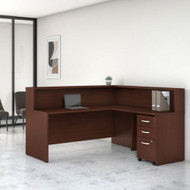 Bush Business Furniture Studio C L-Shaped Reception Desk Harvest Cherry - STC040CSSU