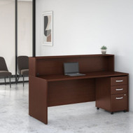Bush Business Furniture Studio C Reception Desk Harvest Cherry - STC041CSSU