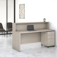 Bush Business Furniture Studio C Reception Desk Sand Oak - STC041SOSU