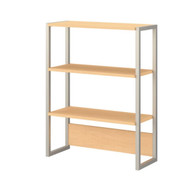 Kathy Ireland by Bush Method Collection Bookcase / Lateral File Hutch Natural Maple - KI70306