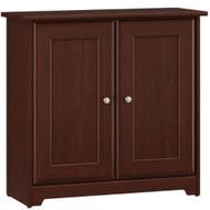 Bush Cabot Collection Low Storage Cabinet with Doors Harvest Cherry - WC31496-03