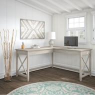 """Bush Key West L-Shaped Desk 60"""" - KWD160WG-03"""
