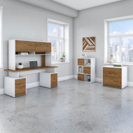 "Bush Business Furniture Jamestown 72""W Desk Package - JTN008FWWHSU"