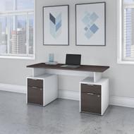 """Bush Business Furniture Jamestown 60""""W Desk w Drawers - JTN017SGWHSU"""
