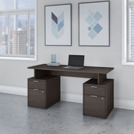 "Bush Business Furniture Jamestown 60""W Desk w Drawers - JTN017SGSU"