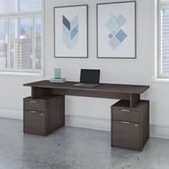 "Bush Business Furniture Jamestown 72""W Desk w Drawers - JTN005SGSU"