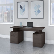 "Bush Business Furniture Jamestown 60""W Desk w Drawers and Storage Cabinet - JTN015SGSU"